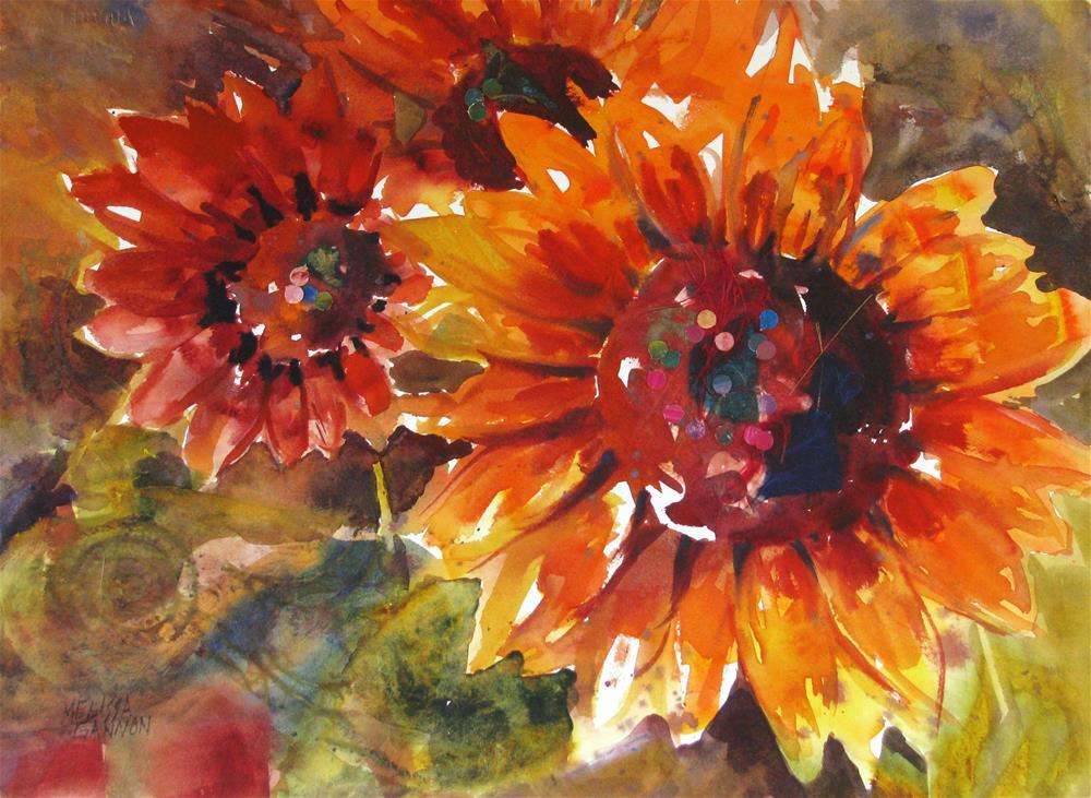 """Sunflower Rhythms"" original fine art by Melissa Gannon"