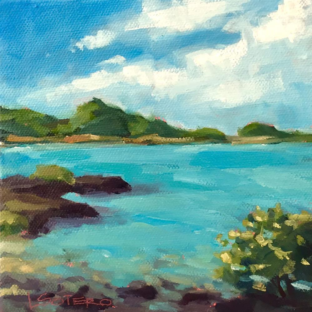 """Deserted-Last Boat Off the Island"" original fine art by Lisa Sotero"