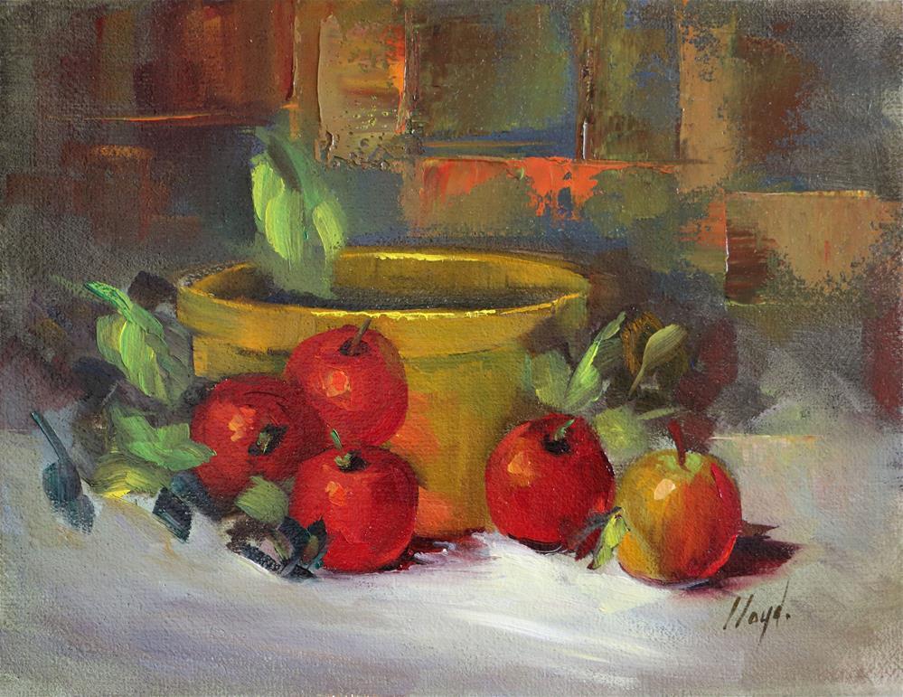 """Apples and Brass"" original fine art by Diane Lloyd"