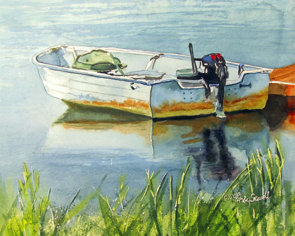 """""""Ready for Fishin'"""" original fine art by Andy Sewell"""