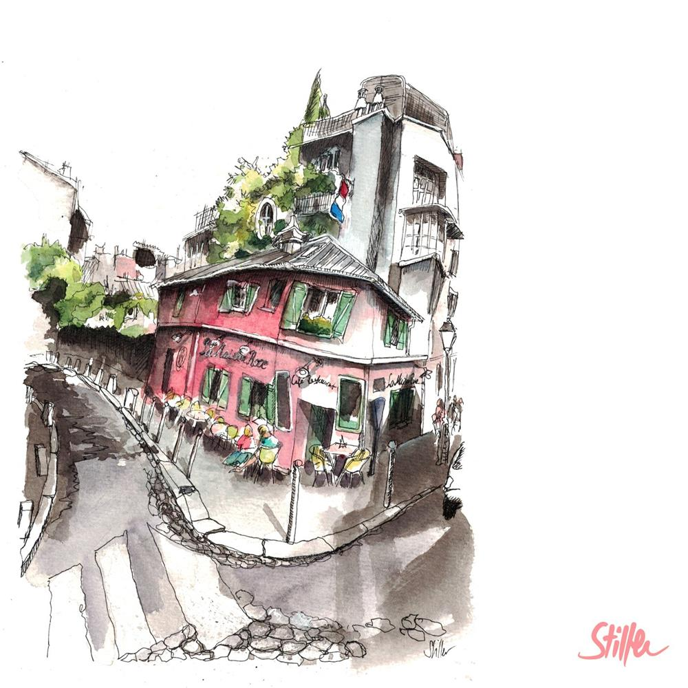 """3490 La Maison Rose"" original fine art by Dietmar Stiller"