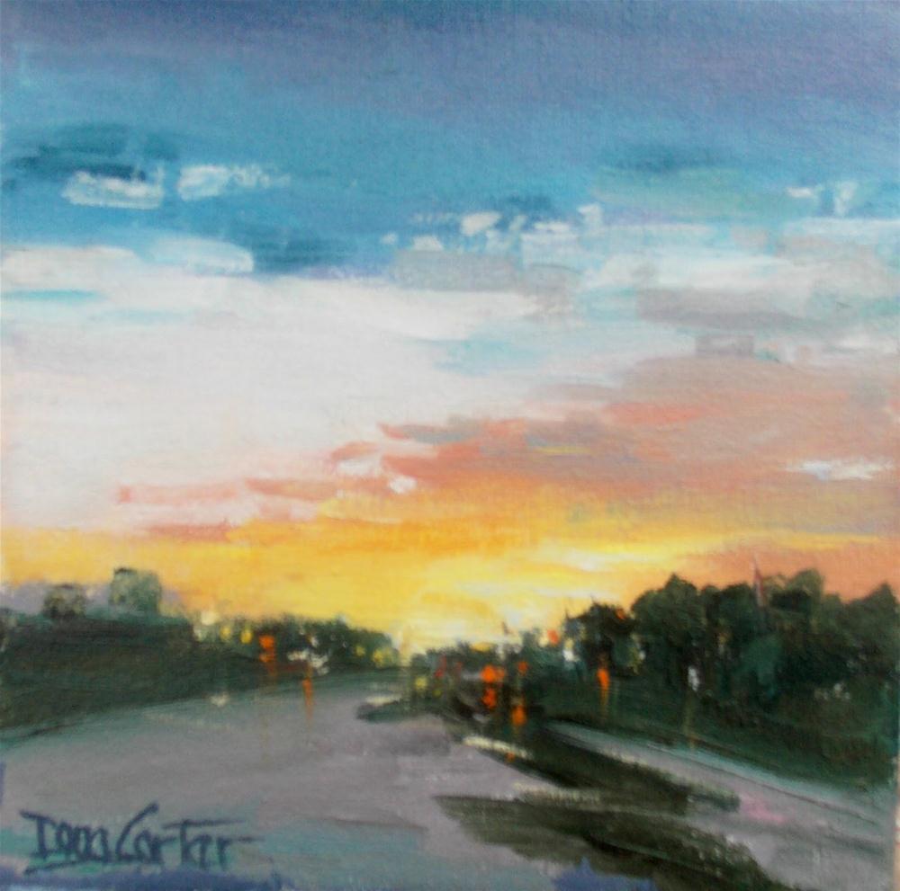 """""""SUNDOWN TRAVEL"""" original fine art by Doug Carter"""