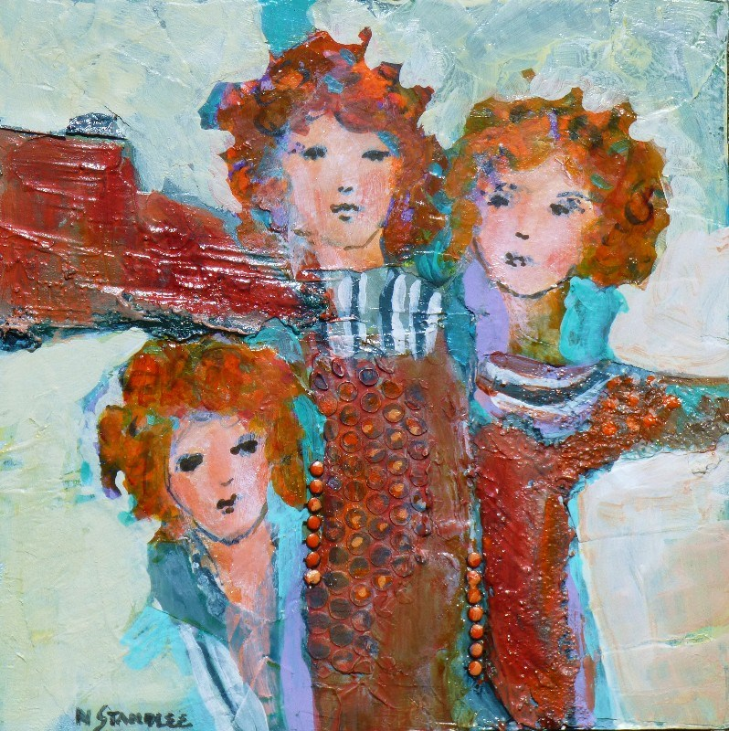 """The Spicewood Girls 14006"" original fine art by Nancy Standlee"