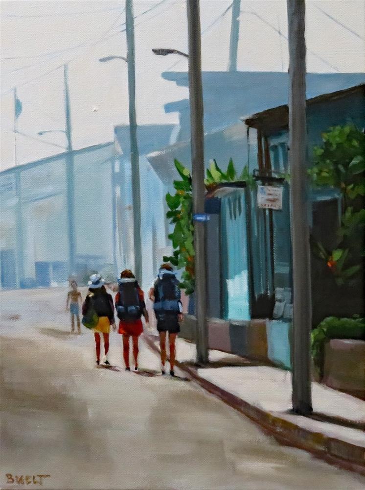 """""""Three Broads Abroad"""" original fine art by Shari Buelt"""