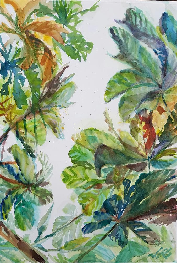 """Broadleaf"" original fine art by Jean Krueger"