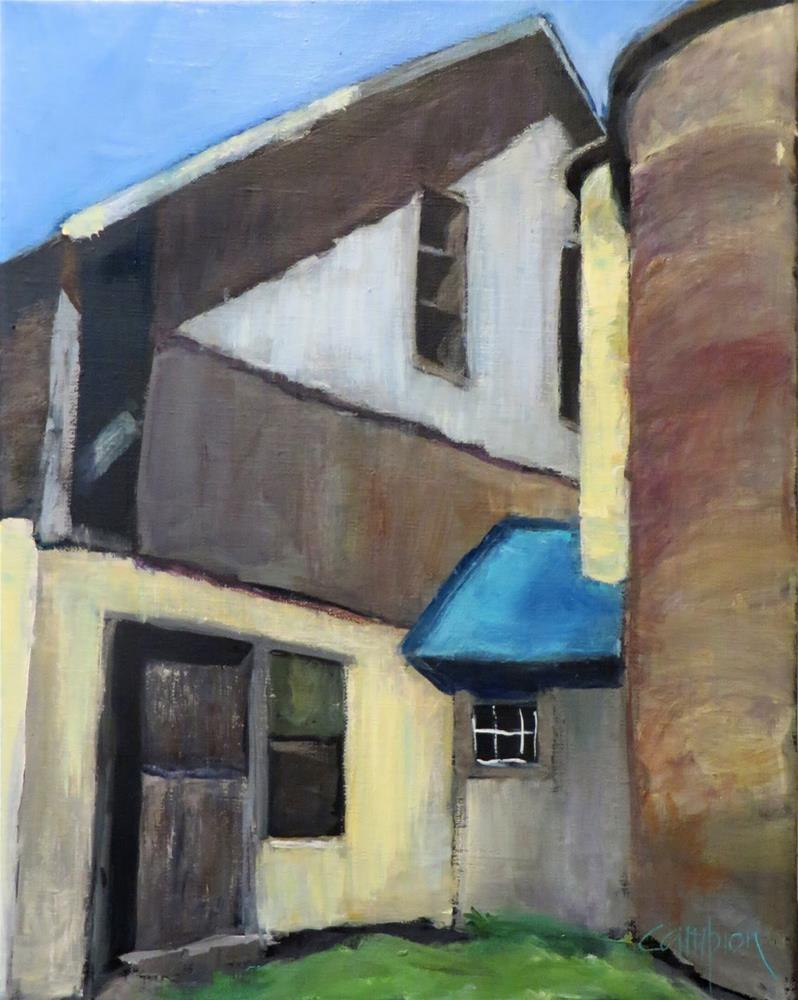"""889 Blue Roof 2"" original fine art by Diane Campion"