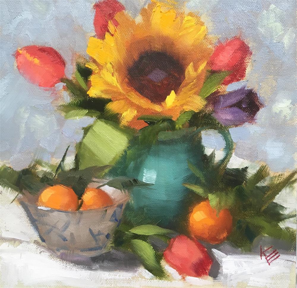 """Sunflower Demo"" original fine art by Krista Eaton"