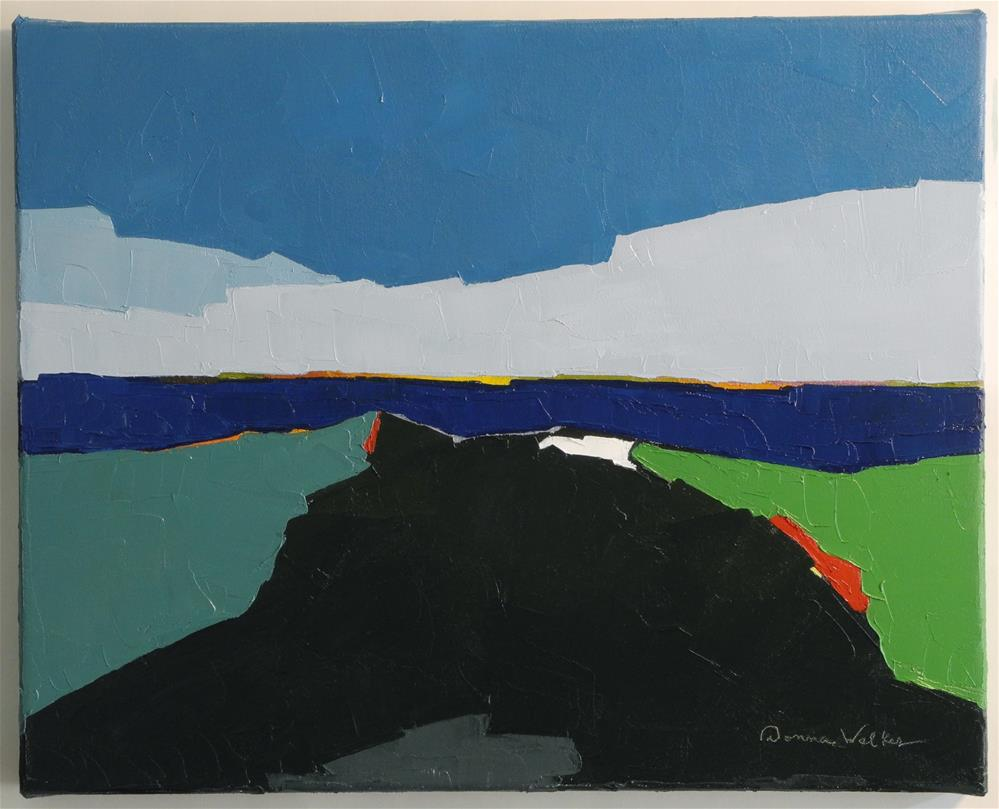 """Moraine"" original fine art by Donna Walker"