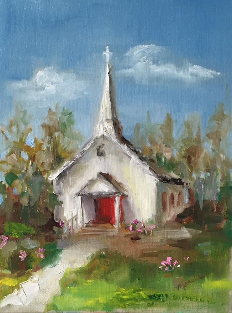 """Corky's  Little Church"" original fine art by Marcia Hodges"
