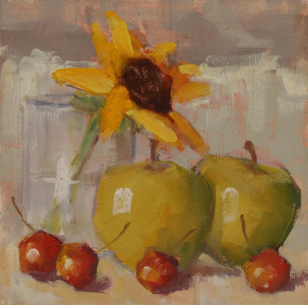 """pre pie"" original fine art by Carol Carmichael"
