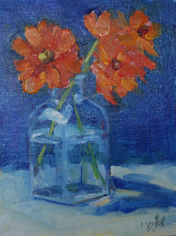 """Summer Garden"" original fine art by Carol Josefiak"