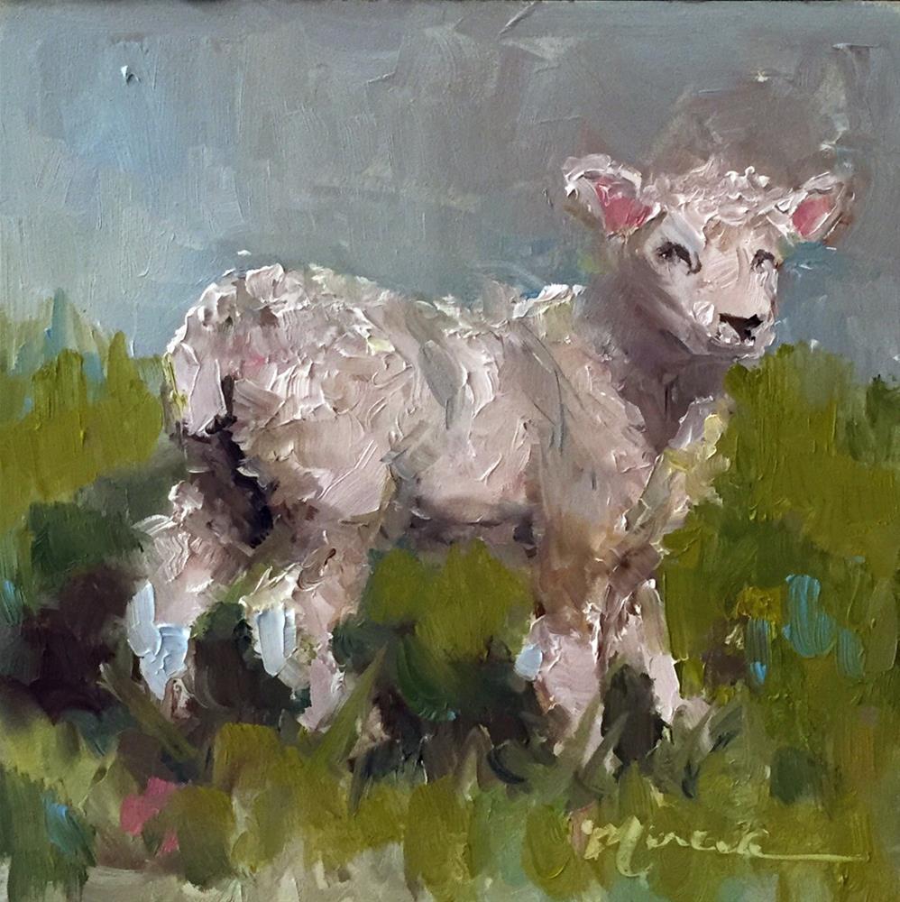 """""""Little Lamb"""" original fine art by Marcia Hodges"""