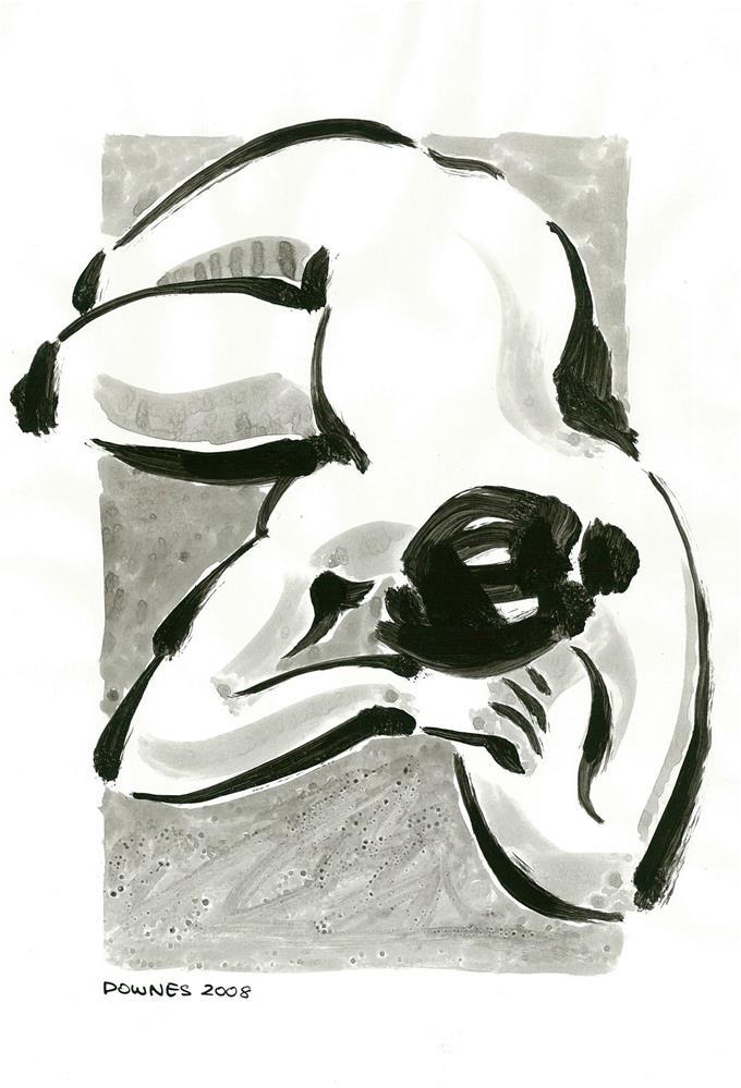 """""""223 ORIGINAL LIFE SKETCH 7"""" original fine art by Trevor Downes"""