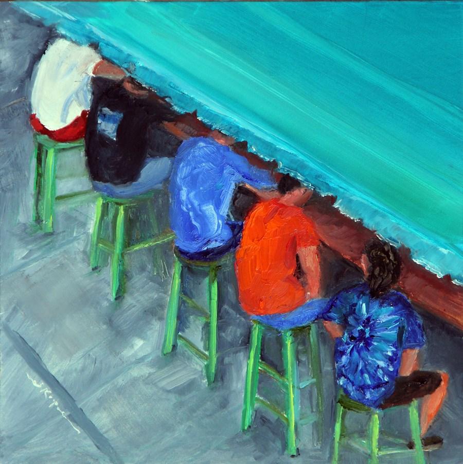 """""""Bar Butts"""" original fine art by Shelley Koopmann"""