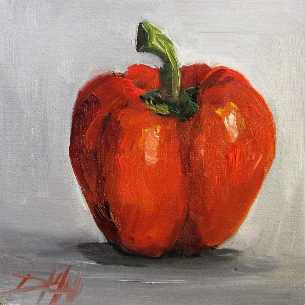 """Red Peppers No. 2"" original fine art by Delilah Smith"