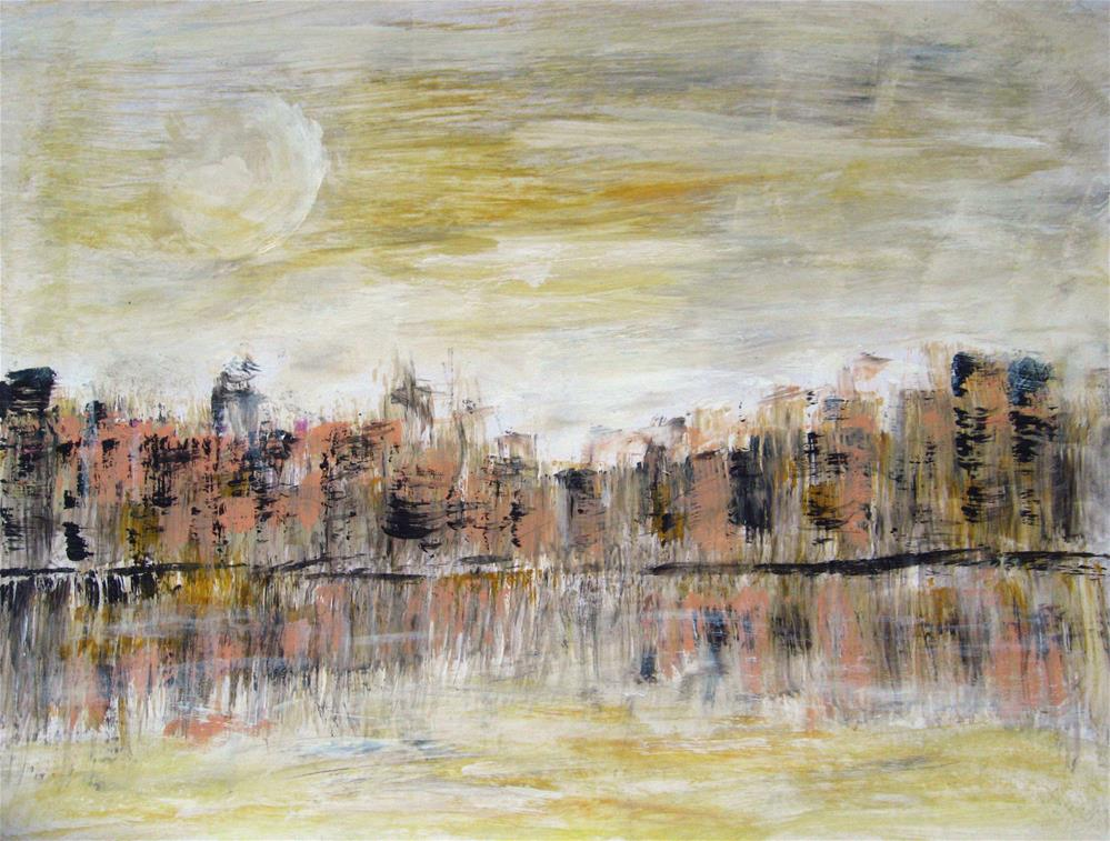 """""""Abstract Cityscape"""" original fine art by Alina Frent"""