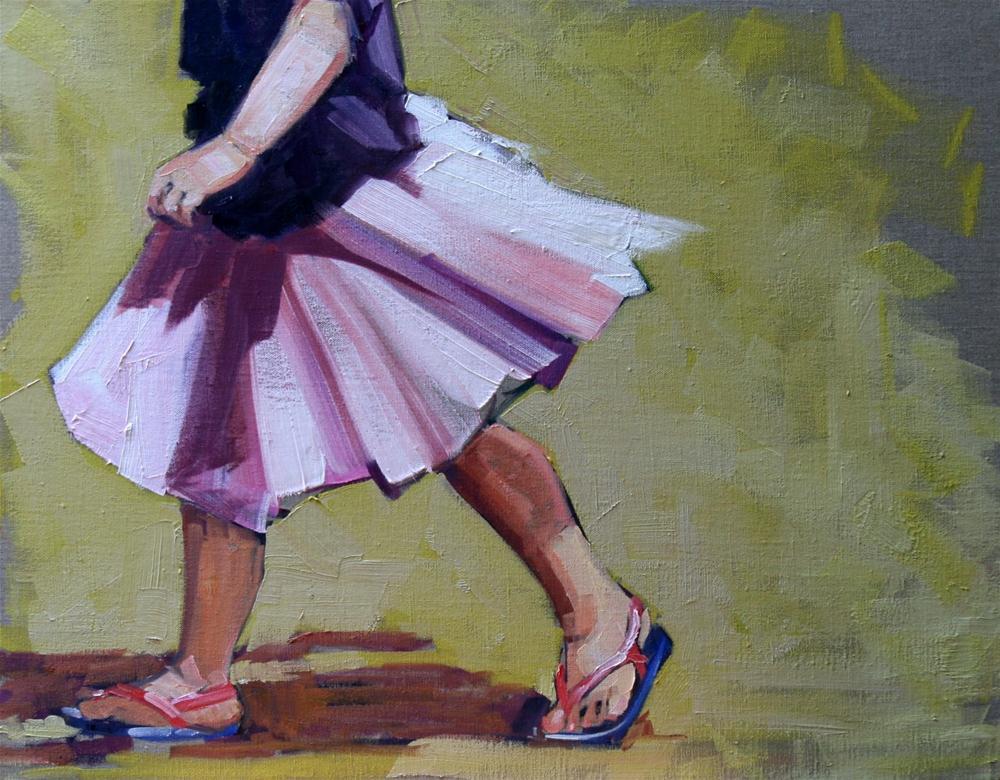 """hustle"" original fine art by Carol Carmichael"