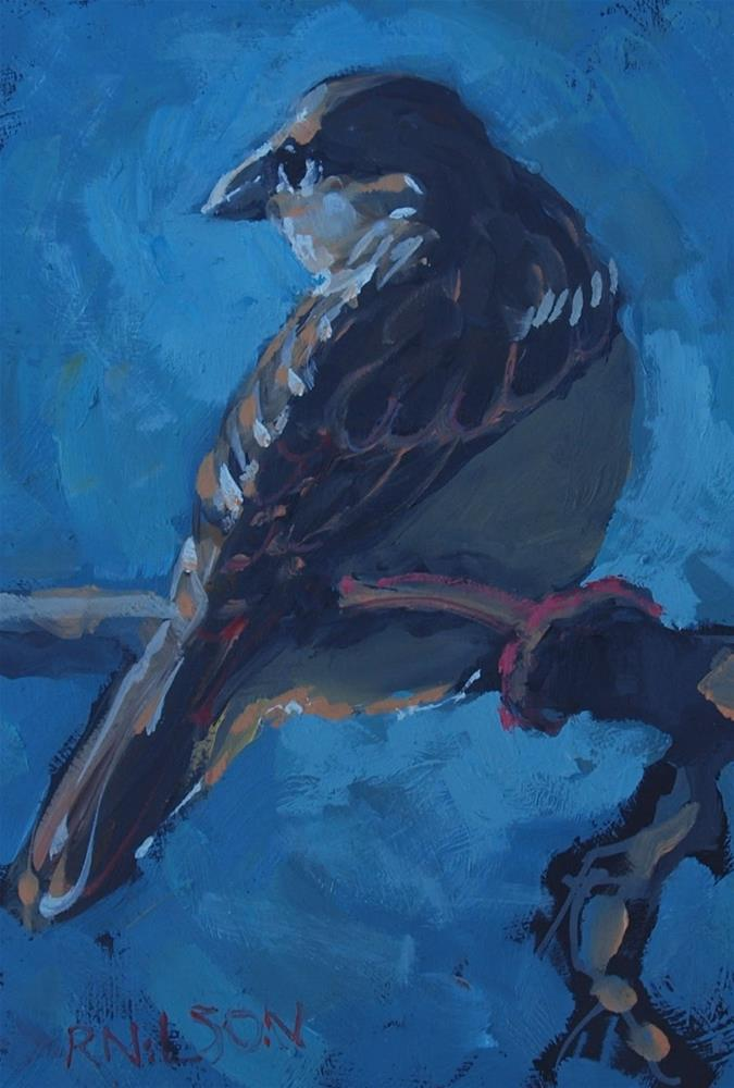 """""""Something with feathers"""" original fine art by Rick Nilson"""