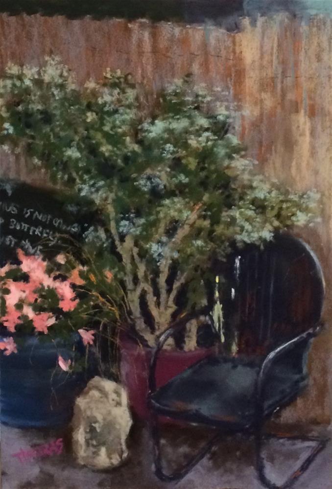 """Greenhouse Morning"" original fine art by Christina Karras"