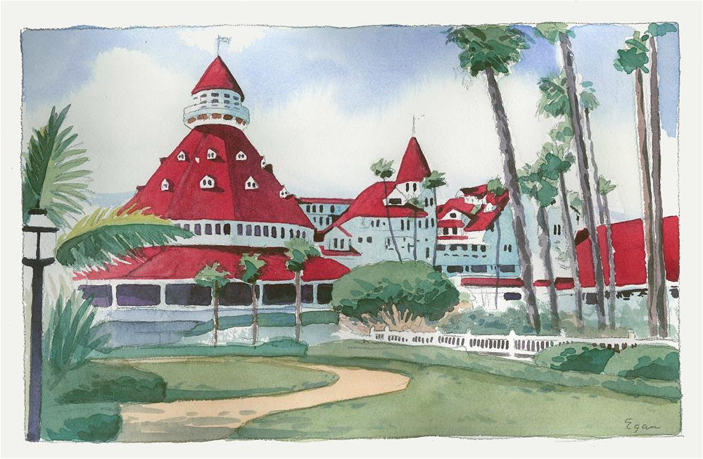 """Hotel Del Coronado"" original fine art by Tim Egan"