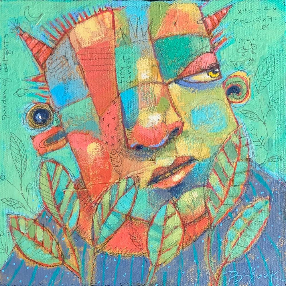 """Irvin, Patron Saint Of Climate Change Infidels"" original fine art by Brenda York"
