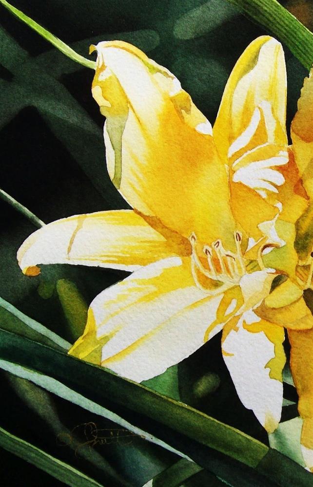 """Hello Sunshine!"" original fine art by Jacqueline Gnott, TWSA, WHS"