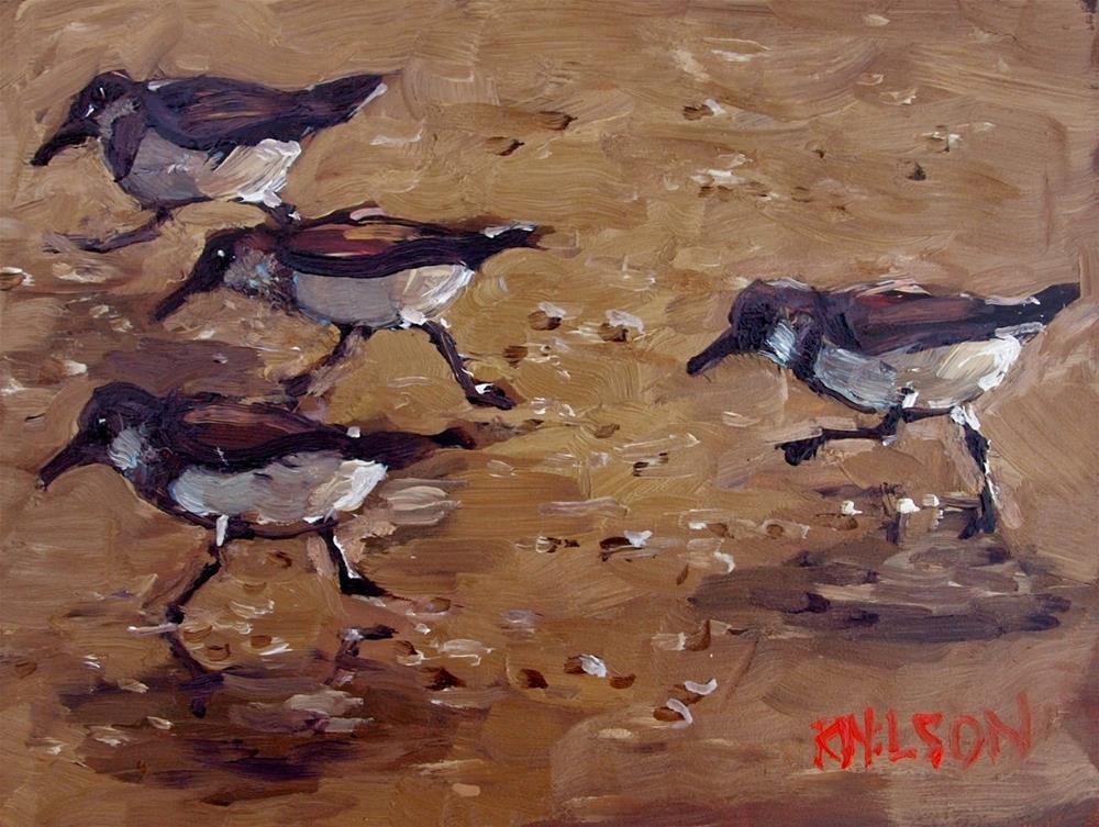 """""""Movement in Shorebirds"""" original fine art by Rick Nilson"""