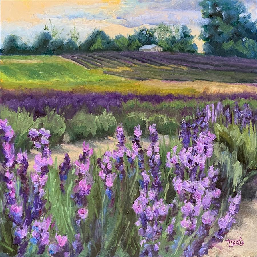 """Lavender Hills"" original fine art by Andrea Jeris"