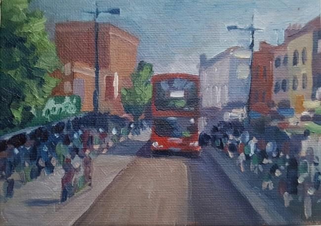 """""""Camden Crowds"""" original fine art by J M Needham"""