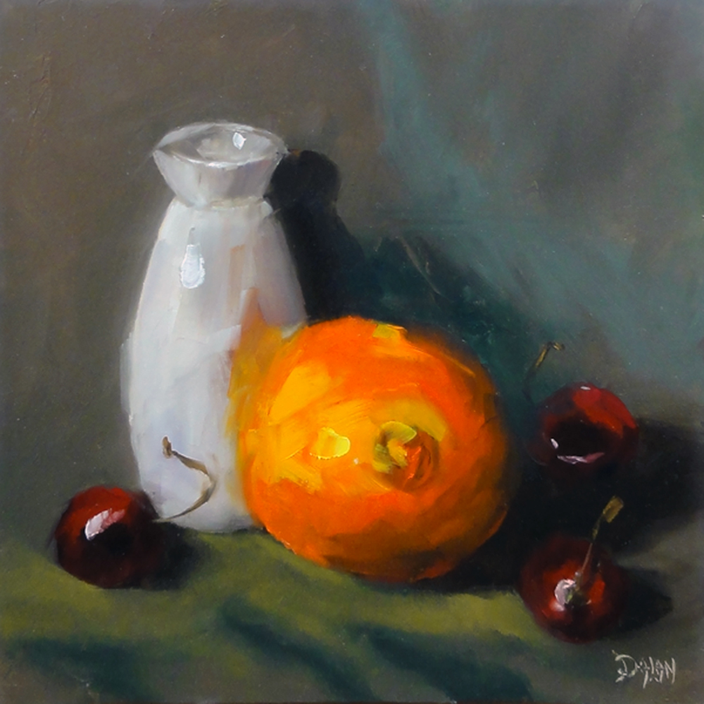"""Orange Cherries"" original fine art by Dalan Wells"