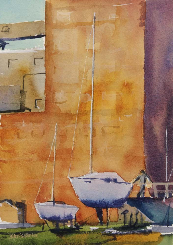 """Yachts"" original fine art by Chris Breier"