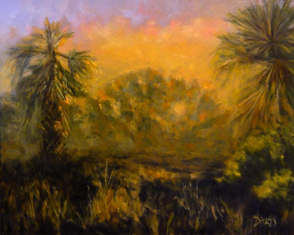 """""""Hawaiian Forest Sunset"""" original fine art by Dalan Wells"""