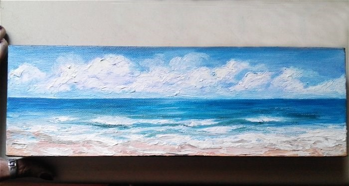 """Beach Seascape"" original fine art by Camille Morgan"