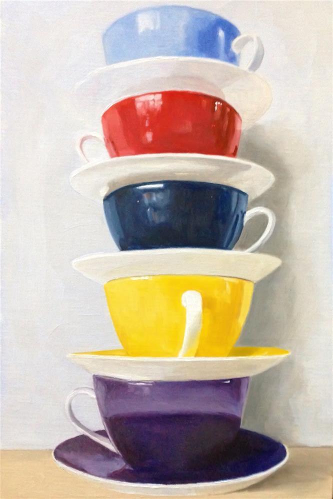 """Stack O' Cups"" original fine art by James Coates"