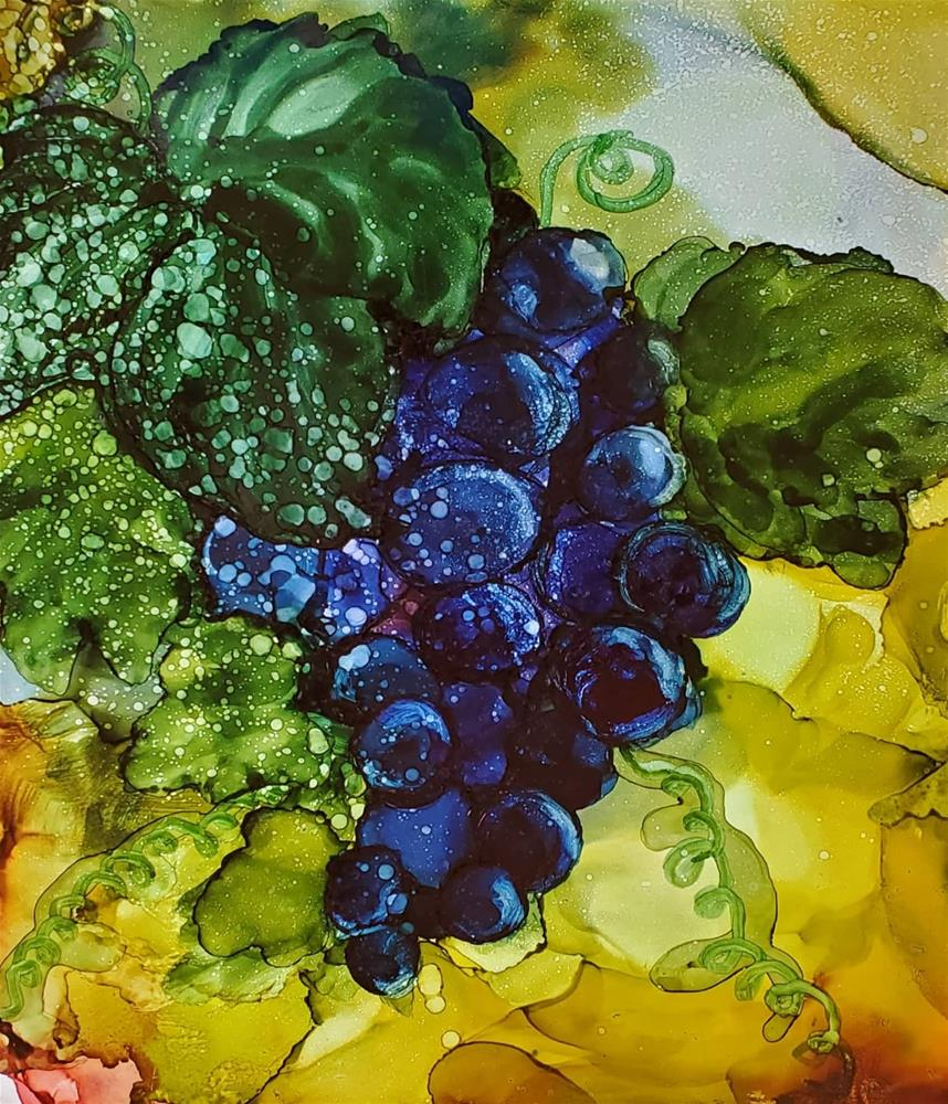 """Grapes"" original fine art by Olesya Sytnyk"