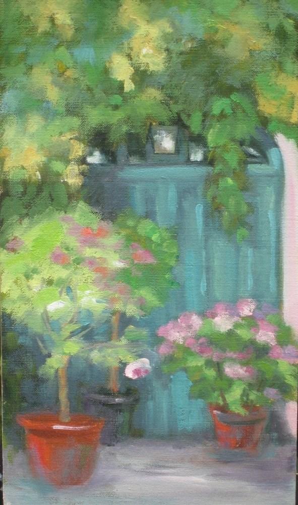 """""""Door in Giverny"""" original fine art by Judy Elias"""