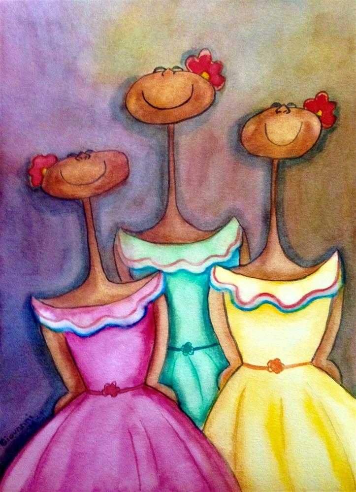 """Sisters"" original fine art by Giovanni Antunez"