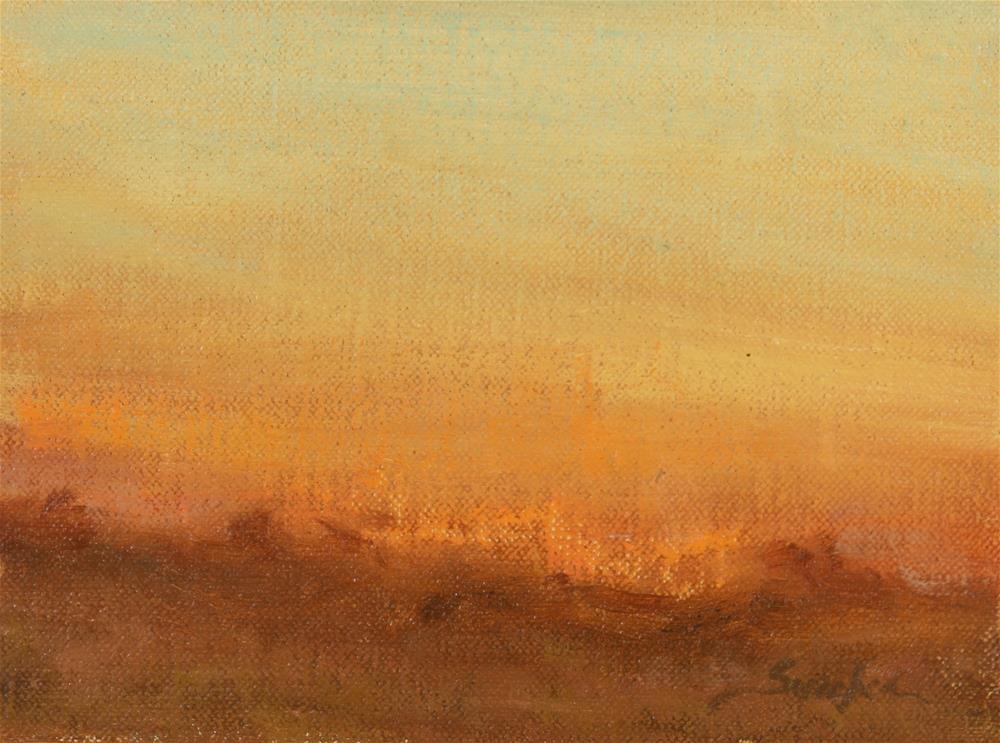 """Winter Sunset 04"" original fine art by Scott Serafica"
