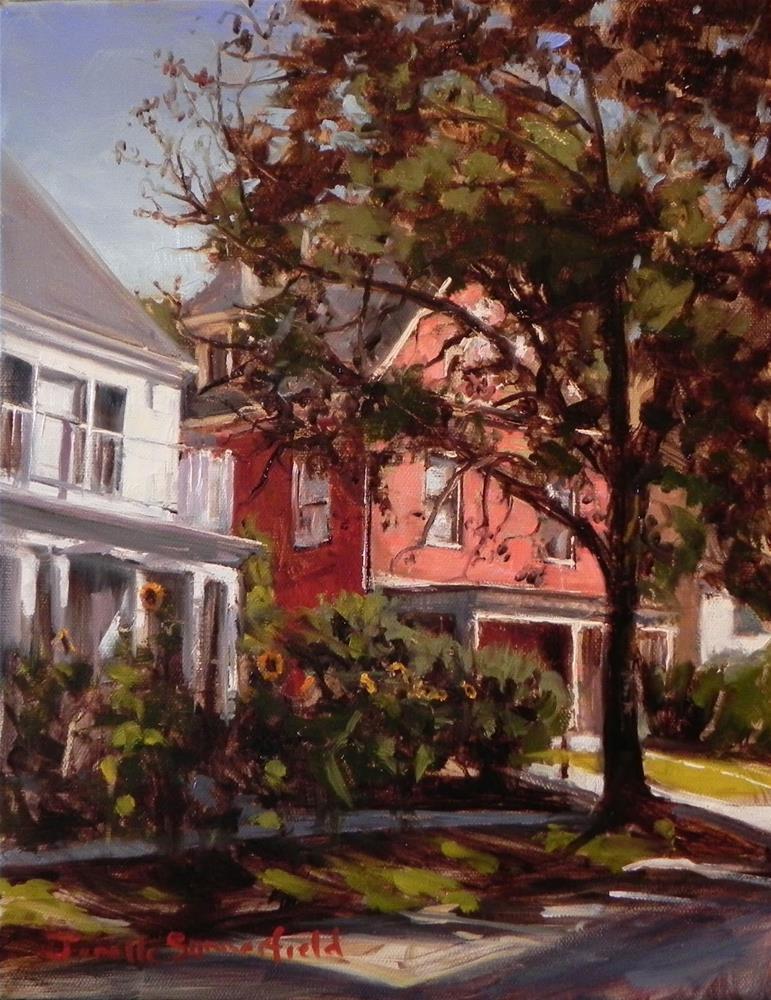 """""""Houses on Sixth Street"""" original fine art by Jonelle Summerfield"""