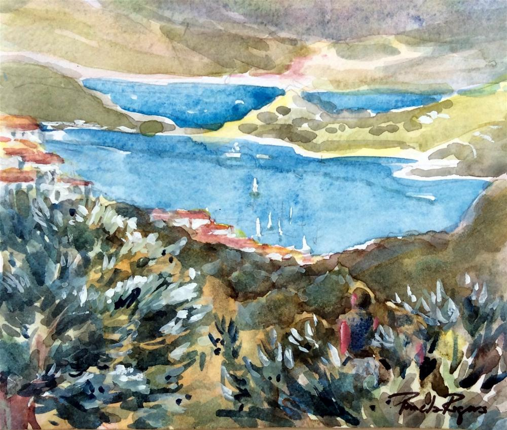 """In the Olive Groves"" original fine art by Pamela Jane Rogers"