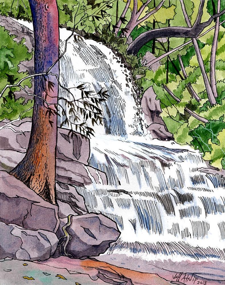 """Laurel Falls"" original fine art by Jeff Atnip"