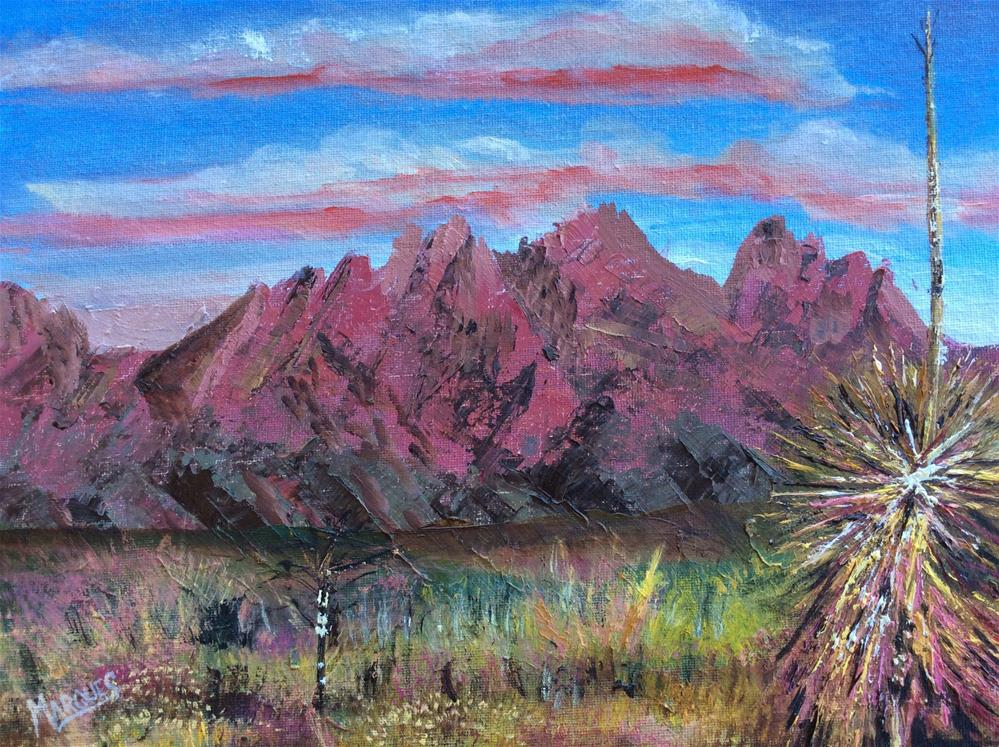 """Organ mountains as the sun sets"" original fine art by Kathy Marques"