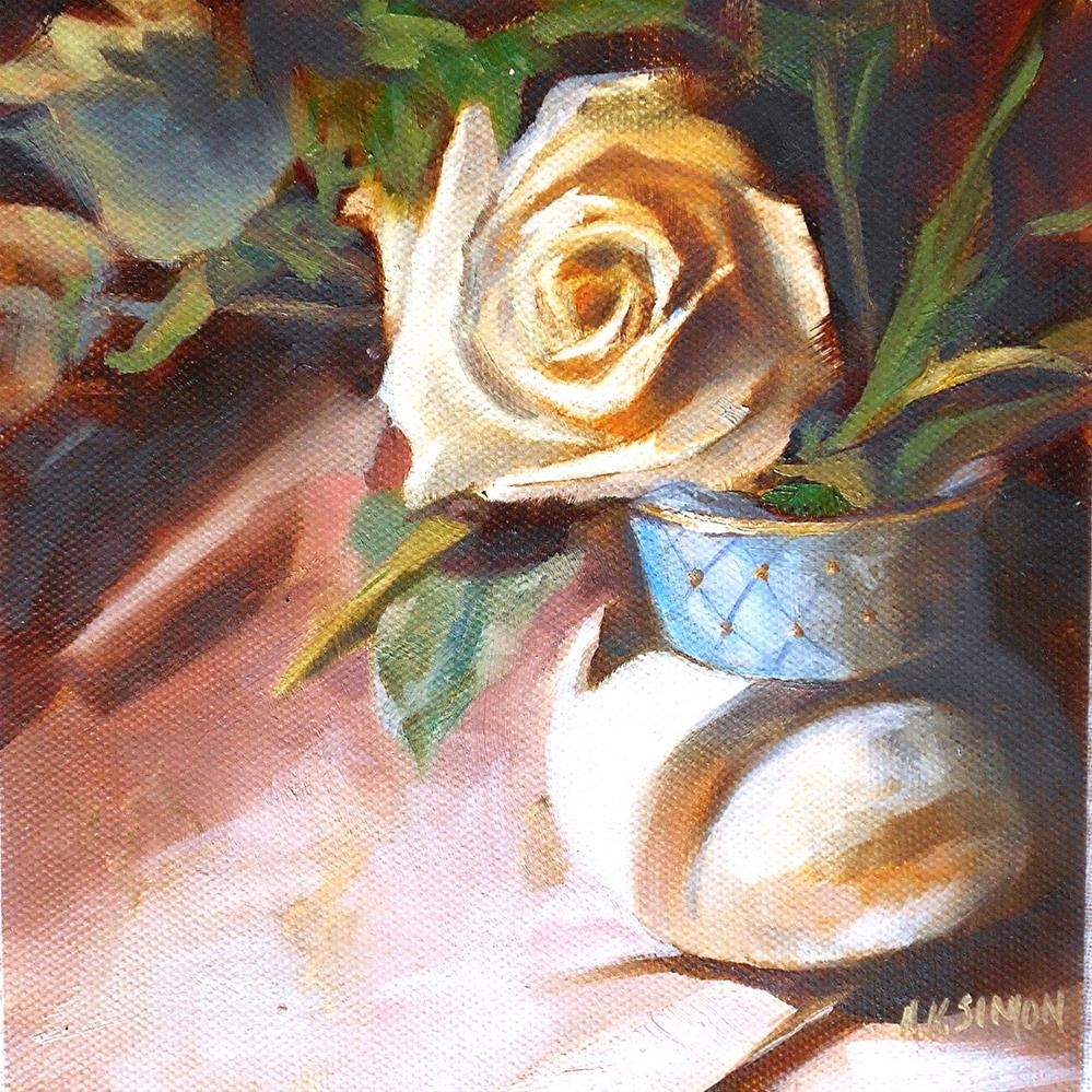 """Promise of a Rose"" original fine art by A.K. Simon"