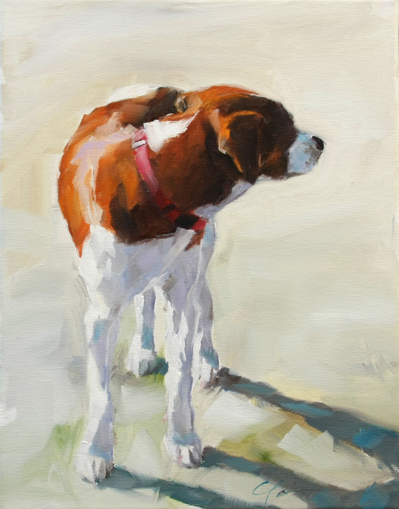 """Looking Back"" original fine art by Clair Hartmann"