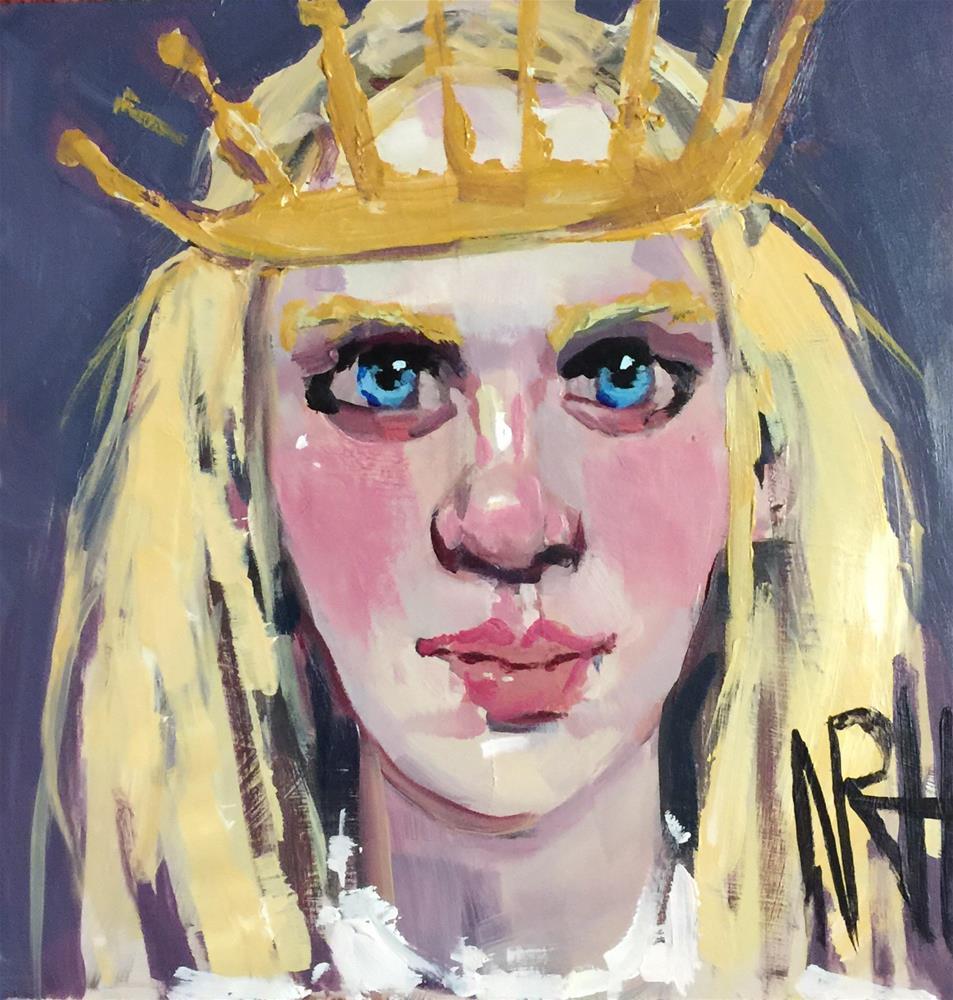 """""""Arctic Queen"""" original fine art by Nancy  Rhodes Harper"""