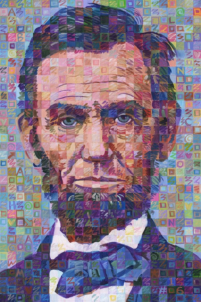 """Abraham Lincoln No. 3"" original fine art by Randal Huiskens"