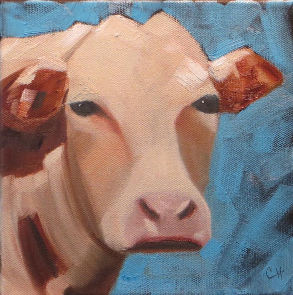 """Hereford"" original fine art by Claire Henning"