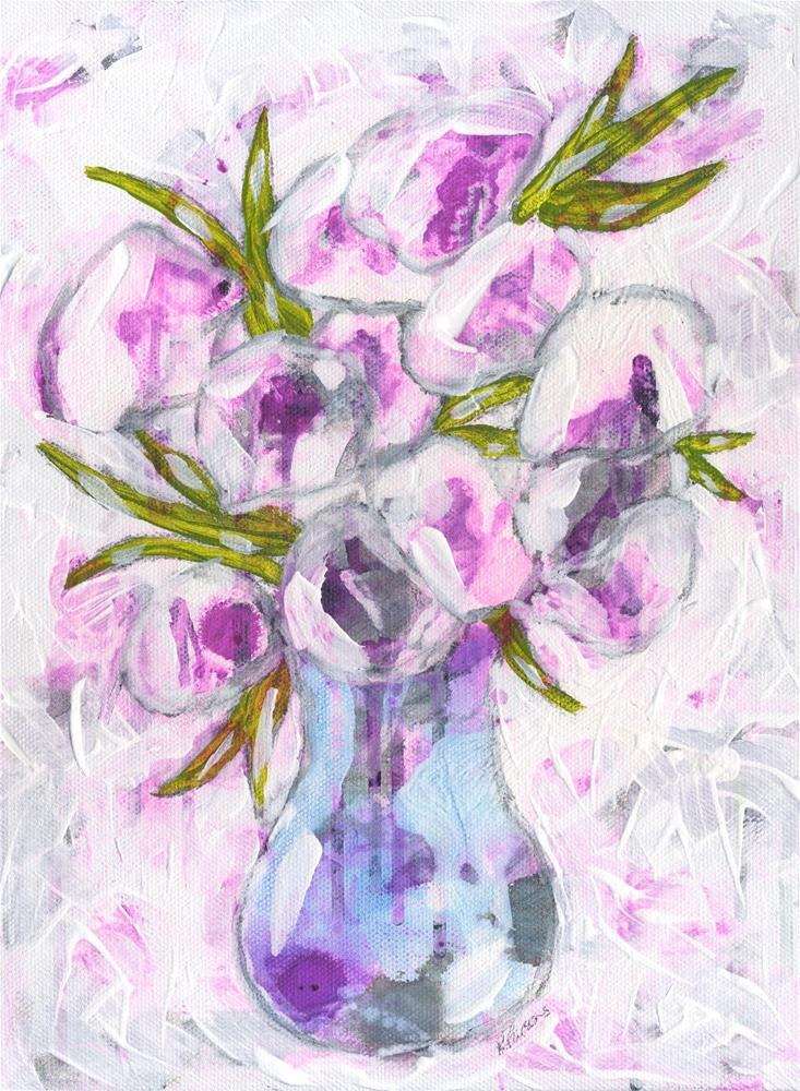 """""""And Then I Saw Flowers"""" original fine art by Kali Parsons"""