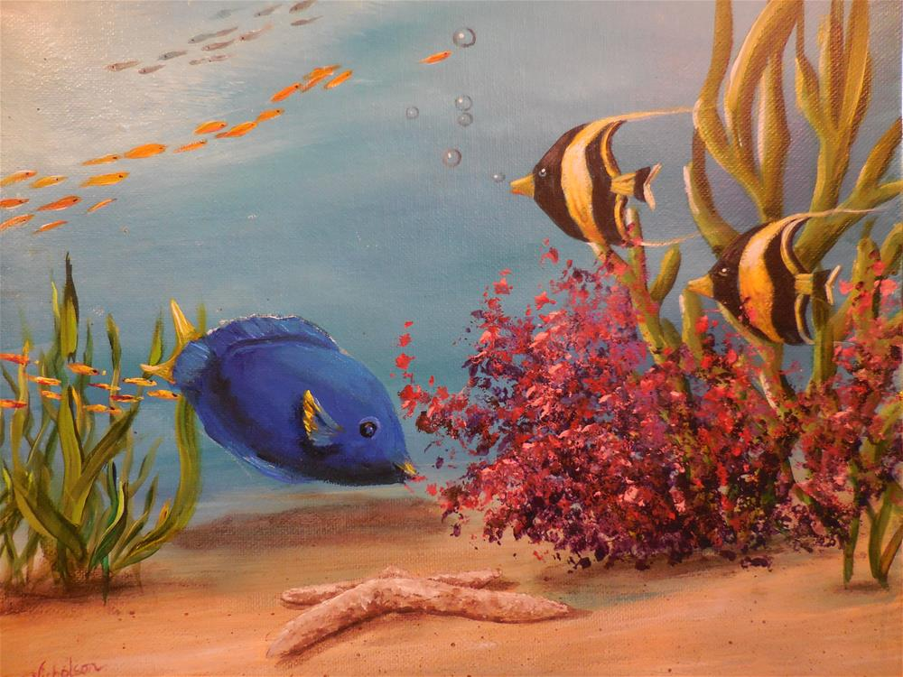 """I Found Dory!"" original fine art by Terri Nicholson"
