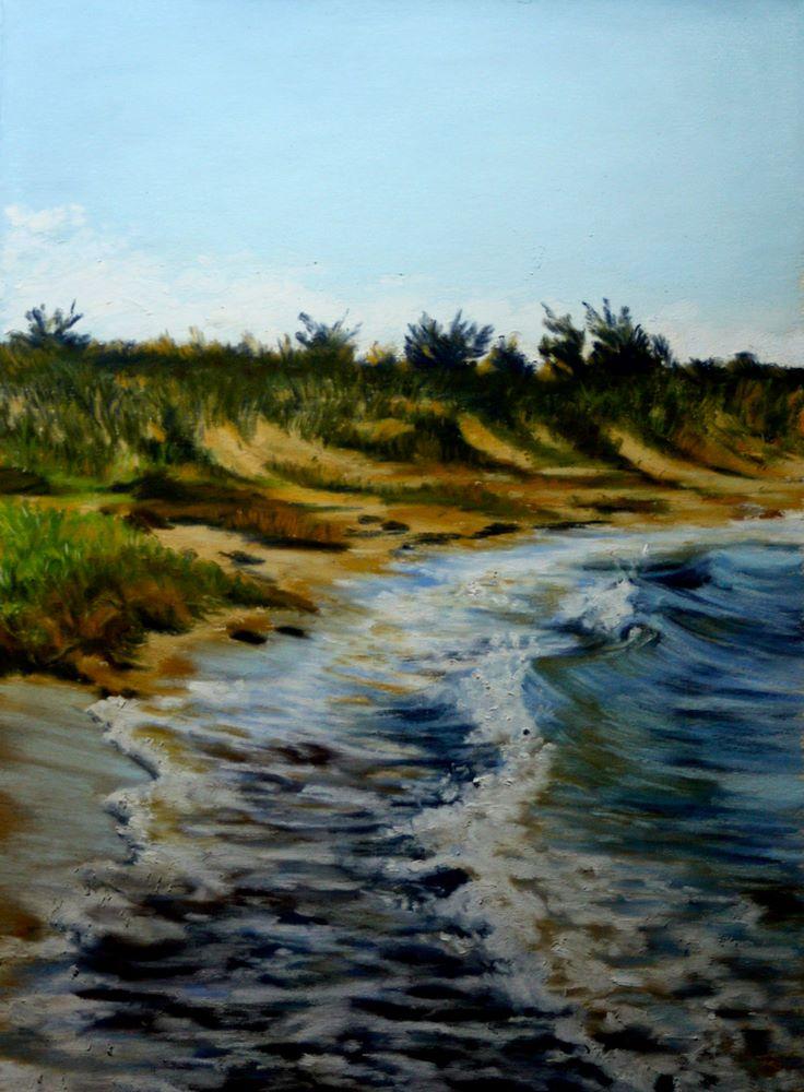 """""""Curves & Curls Along Cotuit Beach"""" original fine art by Jill Bates"""
